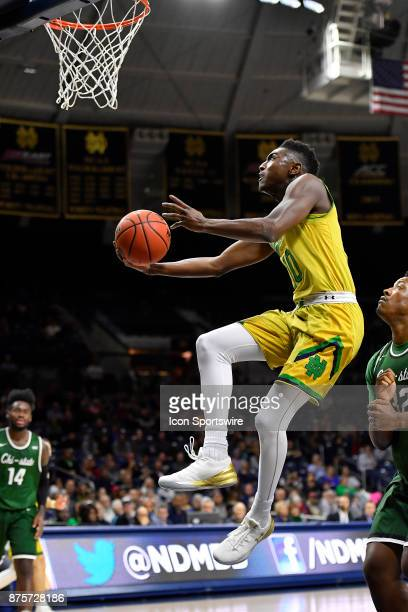 Notre Dame Fighting Irish guard Temple Gibbs shoots a lay up during the game between the Chicago State Cougars and the Notre Dame Fighting Irish on...