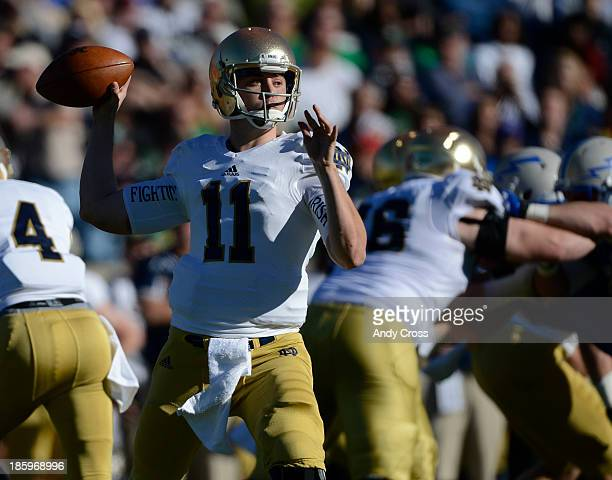 Notre Dame QB Tommy Rees during the game against Air Force in the first quarter at Falcon Stadium Saturday afternoon October 26 2013