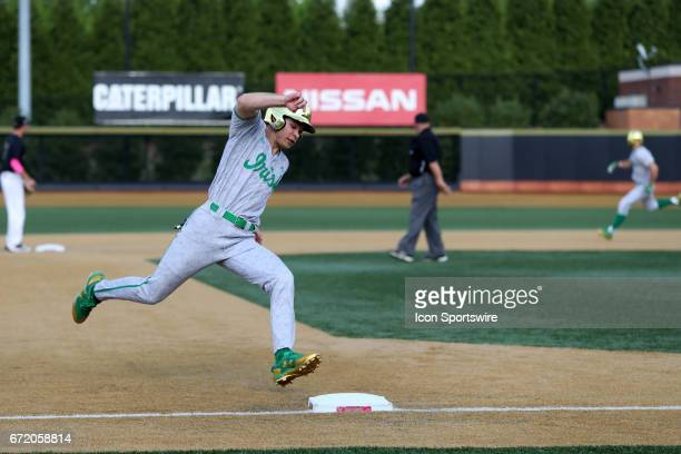 Notre Dame's Kyle Fiala rounds third base on his way to scoring a run The Wake Forest Demon Deacons hosted the University of Notre Dame Fighting...