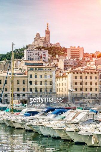 Notre-Dame de la Garde from the Vieux Port of Marseille