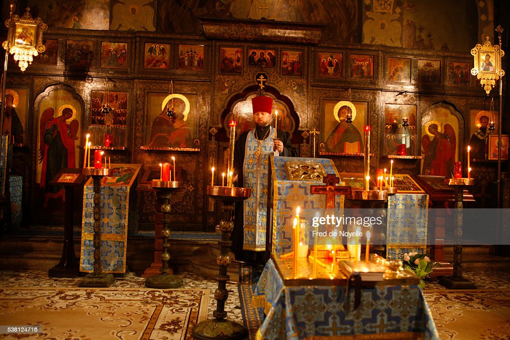 notredame de lassomption orthodox chapel saintegenevievedesbois stock photo getty images. Black Bedroom Furniture Sets. Home Design Ideas