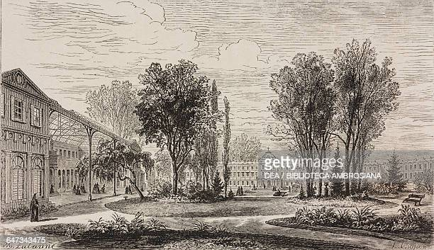 NotreDame des Arts in Neuilly engraving by Chapon based on a drawing by Lalanne from ParisGuide by leading writers and artists of France Volume 1...