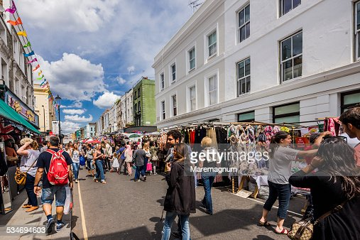 portobello road market stock photos and pictures getty images. Black Bedroom Furniture Sets. Home Design Ideas