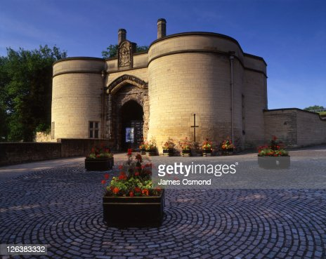 Nottingham Castle Gatehouse, the entrance for visitors and tourists visiting the castle in Nottinghamshire.