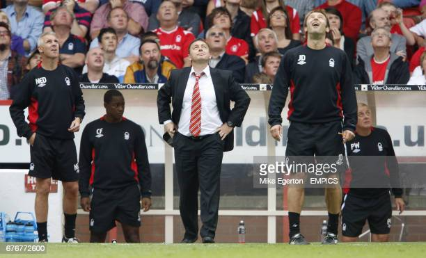Nottingham Forest coaching staff assistant manager Ned Kelly assistant first team coach Chris Fairclough manager Billy Davies first team coach Julian...
