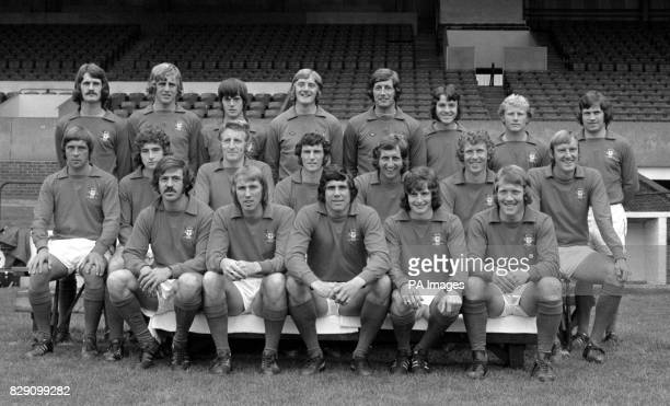 Nottingham Forest Football Club members Front Row Doug Fraser Liam O'Kane Peter Hindley Jimmy McIntosh and George Lyall Centre Row Barry Lyons Martin...