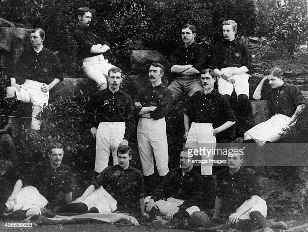 Nottingham Forest Football Club team photograph 18841885 The team pictured after they won the Notts senior cup Back T Danks CJ Caburn SW Widdowson...
