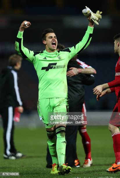 Nottingham Forest goalkeeper Karl Darlow celebrates at full time