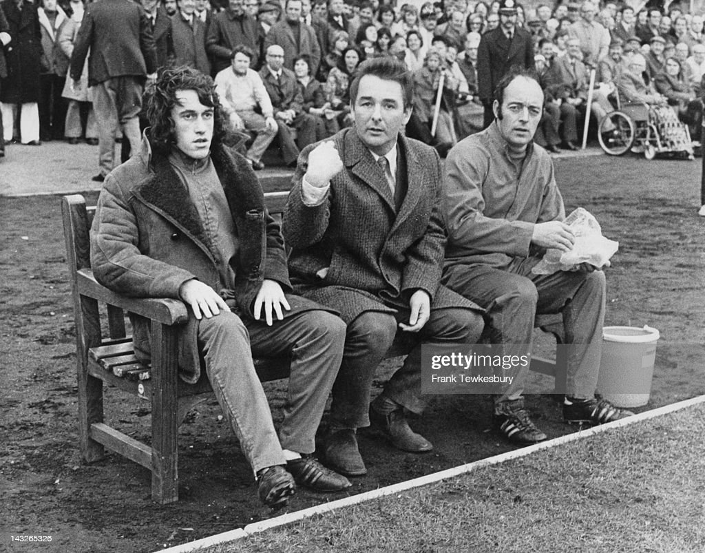 Nottingham Forest manager Brian Clough on the bench at a match 27th November 1973