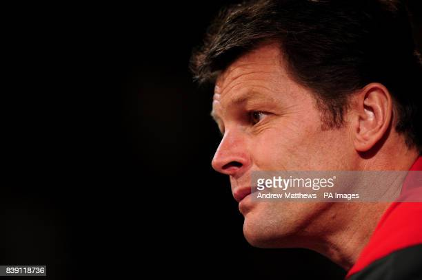 Nottingham Forest manager Steve Cotterill during the press conference at the City Ground Nottingham
