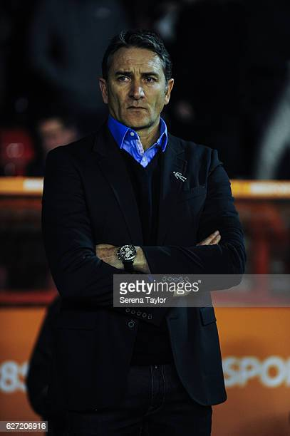 Nottingham Forest Mangaer Philippe Montanier stands sidelines prior to kick off of the Sky Bet Championship match between Nottingham Forest and...