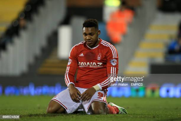 Nottingham Forest's Britt Assombalonga looks dejected after a missed shot on goal