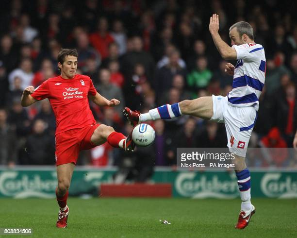 Nottingham Forest's Chris Cohen and Queens Park Rangers' Shaun Derry in action