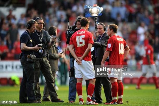Nottingham Forest's Chris Cohen is interviewed by TV after the match