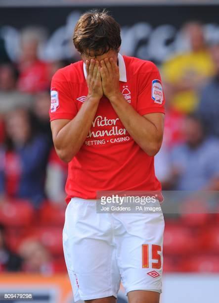 Nottingham Forest's Chris Cohen reacts