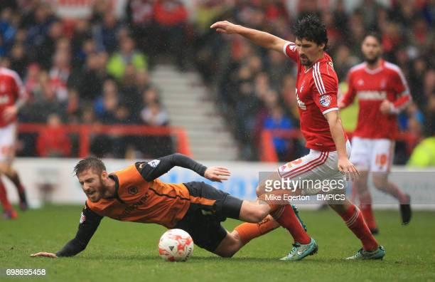 Nottingham Forest's Eric Lichaj and Wolverhampton Wanderers' James Henry