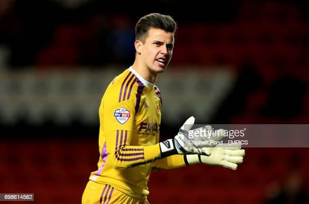Nottingham Forest's Karl Darlow celebrates his team's equalising goal