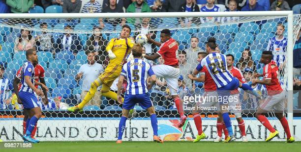Nottingham Forest's Karl Darlow makes a save