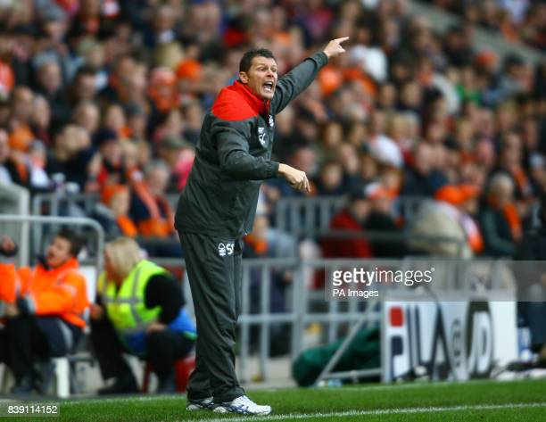 Nottingham Forest's manager Steve Cotterill during the npower Football League Championship match at Bloomfield Road Blackpool