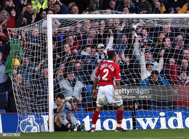 Nottingham Forest's Matthieu LouisJean looks away in despair after putting the ball passed his own keeper Darren Ward for an own goal