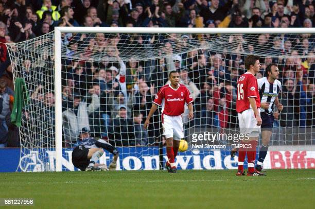 Nottingham Forest's Matthieu LouisJean looks away in despair after putting the ball passed his own goalkeeper Darren Ward for an own goal