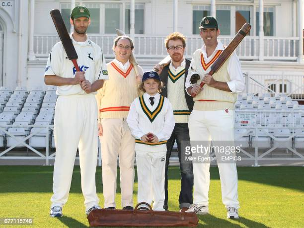Nottinghamshire County Cricket player Charlie Shreck with Belvoir Castle Cricket Trust Director and former Nottinghamshire County Cricket player...