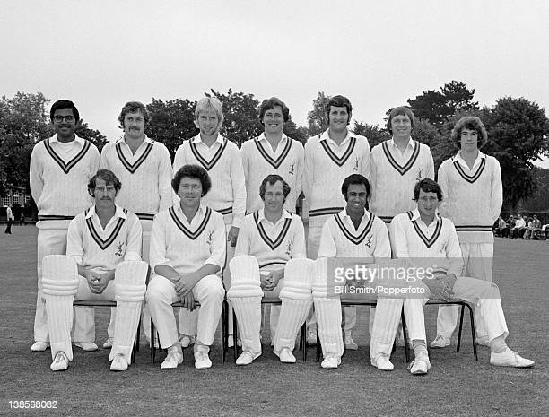 Nottinghamshire County cricket team circa August 1977 Back row Dilip Doshi Peter Hacker John Birch Philip Wilkinson William Taylor Bruce French Front...