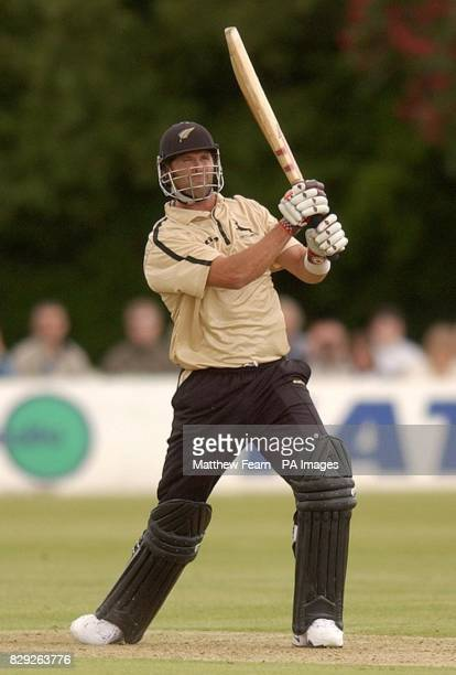 Nottinghamshire Outlaws' Chris Cairns scores a six during their Norwich Union National League clash against Sussex Sharks at Horsham Sussex Cairns...