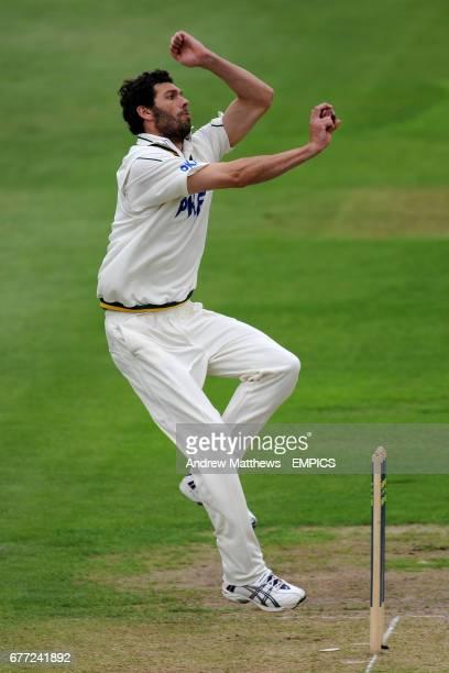 Nottinghamshire's Charlie Shreck bowls