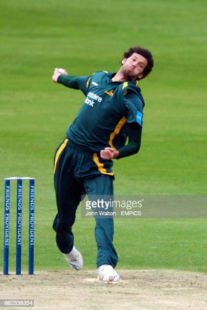 Nottinghamshire's Charlie Shreck in action during the Friends Provident Trophy Northen Conference match at Trent Bridge Nottingham