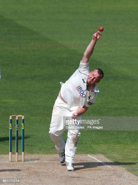Nottinghamshire's Luke Fletcher during the LV=County Championship Division One match at Edgbaston Birmingham