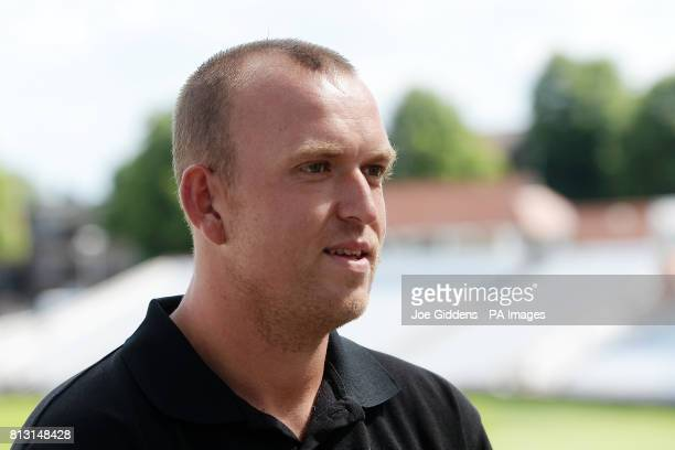 Nottinghamshire's Luke Fletcher during the press conference at Trent Bridge Nottingham