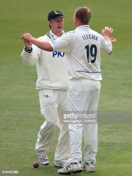 Nottinghamshire's Neil Edwards and Luke Fletcher