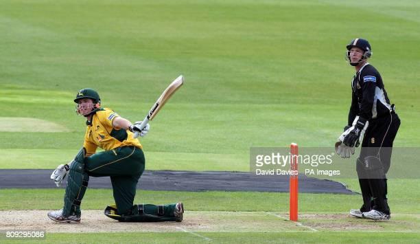 Nottinghamshire's Riki Wessels bats during the t20 Group match at Edgbaston Birmingham