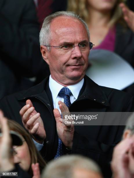 Notts County director of football SvenGöran Eriksson watches from the stands during the CocaCola League Two match between Notts County and Burton...