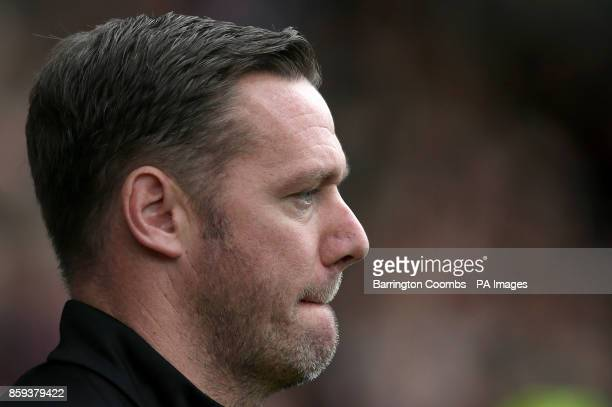 Notts County manager Kevin Nolan during the match at Meadow Lane Nottingham