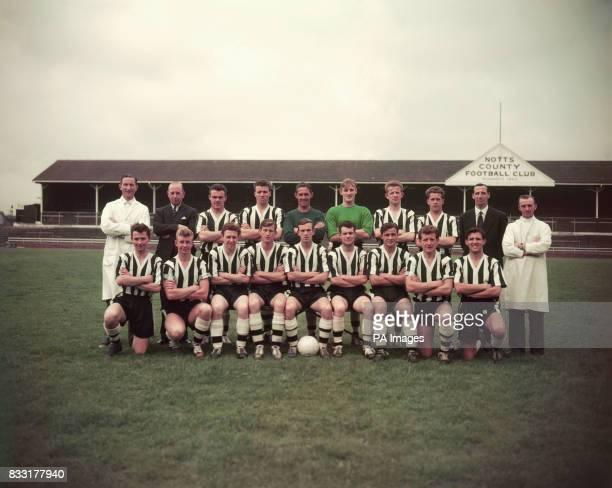 Notts County Team Group Jack Wheeler C Heath Cyril Parry John Lane Gordon Bradley James Linton Robert Bulch John McGrath Tommy Lawton A Dixon Front...