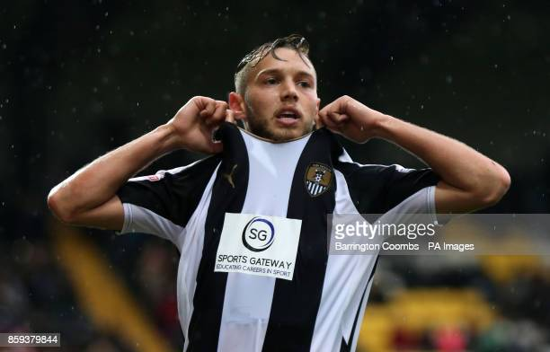 Notts County's Jorge Grant during the match at Meadow Lane Nottingham