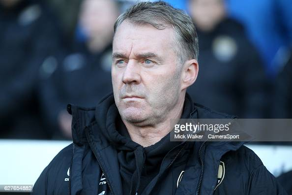 Notts County's Manager John Sheridan during the Emirates FA Cup Second Round match between Notts County and Peterborough United at Meadow Lane on...