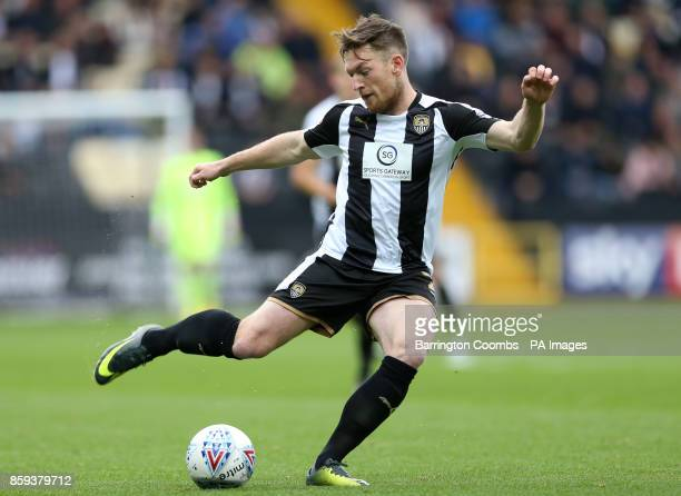 Notts County's Matt Tootie during the match at Meadow Lane Nottingham