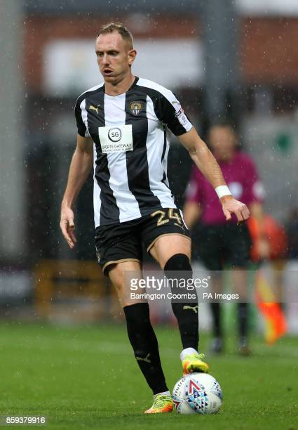 Notts County's Robert Milsom during the match at Meadow Lane Nottingham