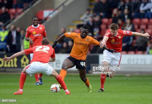 Nouha Dicko of Wolverhampton Wanderers and George Evans of Crewe Alexandra