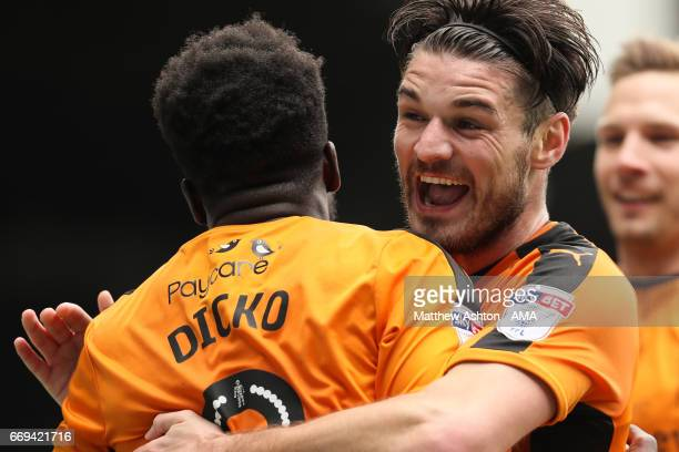 Nouha Dicko of Wolverhampton Wanderers celebrates after scoring a goal to make it 01 during the Sky Bet Championship match between Leeds United and...