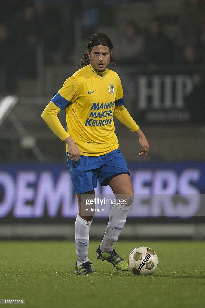 Nourdin Boukhari of RKC Waalwijk during the Dutch Eredivisie match between RKC Waalwijk and FC Groningen at the Mandemakers Stadium on November 24, 2012 in Waalwijk, The Netherlands.