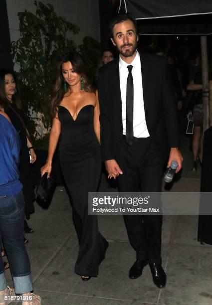 Noureen DeWulf and Ryan Miller are seen on July 18 2017 in Los Angeles California