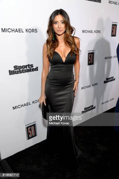 Noureen DeWulf at Sports Illustrated 2017 Fashionable 50 Celebration at Avenue on July 18 2017 in Los Angeles California