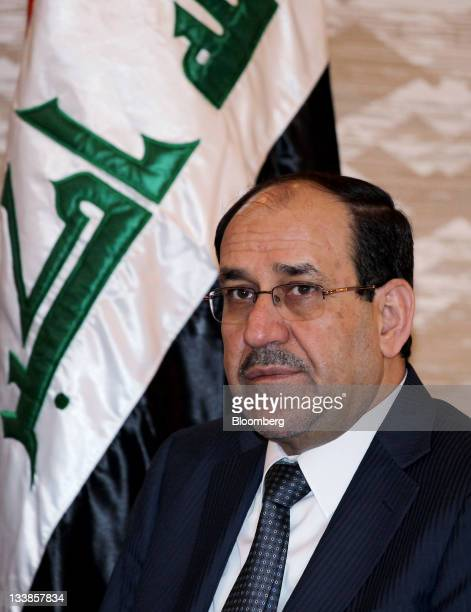 Nouri alMaliki Iraq's prime minister attends a meeting with Yukio Edano Japan's economy trade and industry minister unseen in Tokyo Japan on Monday...