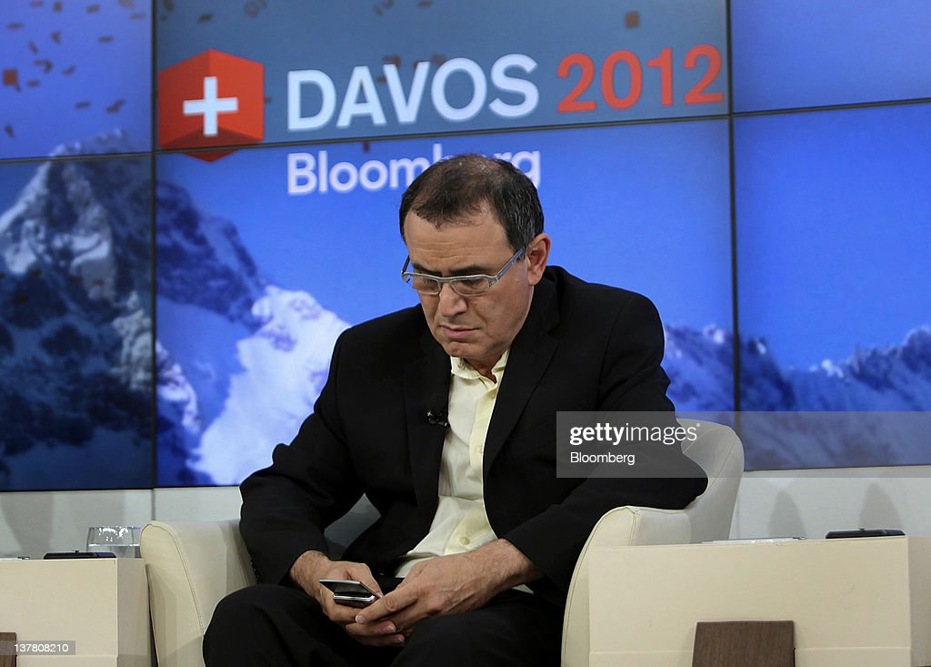 <a gi-track='captionPersonalityLinkClicked' href=/galleries/search?phrase=Nouriel+Roubini&family=editorial&specificpeople=5585642 ng-click='$event.stopPropagation()'>Nouriel Roubini</a>, co-founder and chairman of Roubini Global Economics LLC, listens during a debate on day three of the World Economic Forum (WEF) in Davos, Switzerland, on Friday, Jan. 27, 2012. The 42nd annual meeting of the World Economic Forum will be attended by about 2,600 political, business and financial leaders at the five-day conference. Photographer: Chris Ratcliffe/Bloomberg via Getty Images