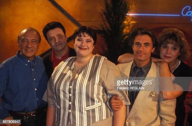 Nouvelle emission televisee 'De quoi j'ai l'air' avec Gerard Holtz et Sonia Dubois ici Jacques Seguela et d'autres invites le 22 juin 1994 a Paris...