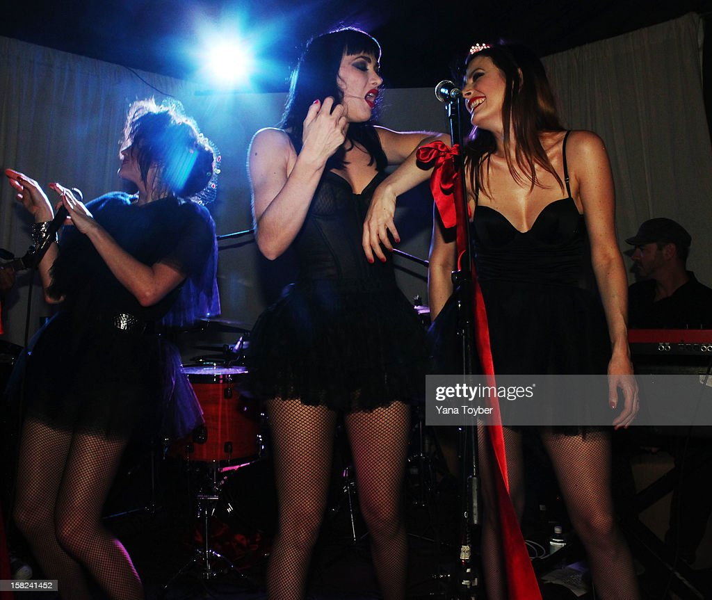 Nouvelle Vague performs during Pavan A La Plage at Soho Beach House on December 8, 2012 in Miami Beach, Florida.